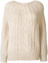 Mes Demoiselles cable-knit jumper