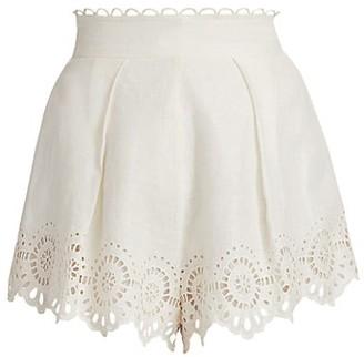 Zimmermann Bellitude Scalloped Lace Shorts