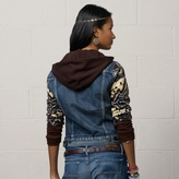 Denim & Supply Ralph Lauren Knit-Sleeved Trucker Jacket