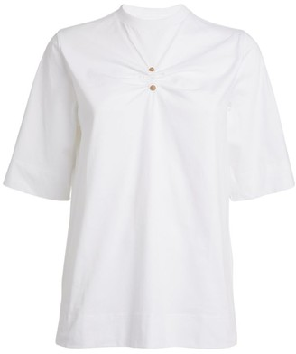 Ganni Ruched T-Shirt
