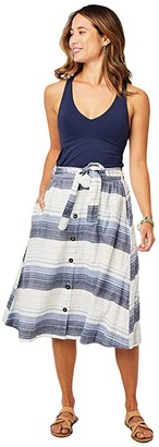 Carve Designs Amaya Skirt (Navy Sunrise Stripe) Women's Skirt