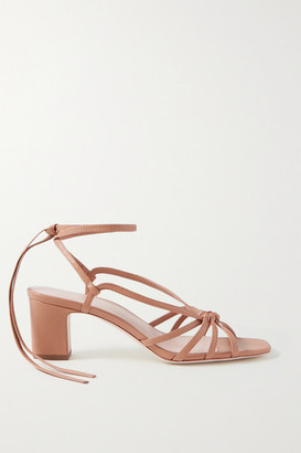 Loeffler Randall Libby Knotted Leather Sandals - Camel
