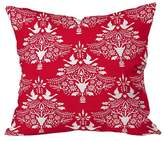 "Deny Designs Blossom Christmas Paper Cutting Throw Pillow (20""x20"