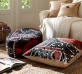Pottery Barn PB Found Embroidered Suzani Floor Seating Covers - Black