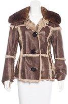 Dolce & Gabbana Fur-Trimmed Shearling Jacket