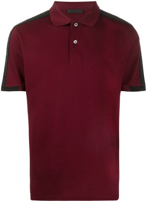 Prada Logo Stripe Detail Polo Shirt