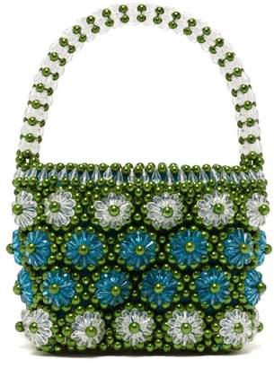 Shrimps Shelly Beaded Floral Handbag - Womens - Green Multi