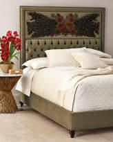 Haute House Peacock Sage Bed, Queen