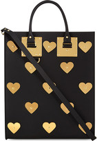 Sophie Hulme Albion leather hearts tote