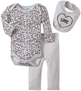 Bon Bebe Love Animal Print Bodysuit Set (Baby)-Multicolor-3-6 Months