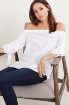 Dynamite Off-The-Shoulder Top with Tied Sleeves