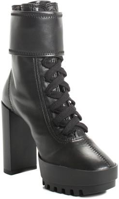 Off-White Leather Moto Wrap Boot, Size 35, Nwt