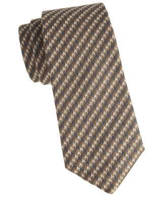 Isaia Houndstooth Wool & Silk Tie