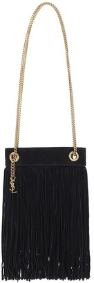 Saint Laurent Grace Small fringed suede tote