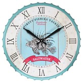 Infinity Instruments SaltWater Fish Clock - Blue