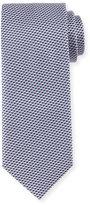 Brioni Neat Basketweave Silk Tie, Pink