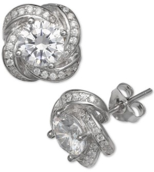 Giani Bernini Cubic Zirconia Love Knot Stud Earrings, Created for Macy's