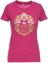 Juicy Couture Logo Fleur Couture Short Sleeve Tee
