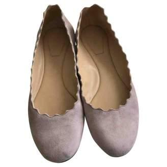 Chloé Lauren Purple Suede Ballet flats