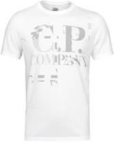 Cp Company White Logo Jersey Short Sleeve T-shirt