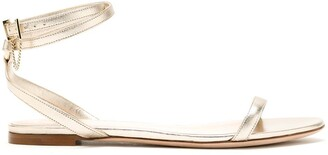 Valentino Metallic Flat Sandals