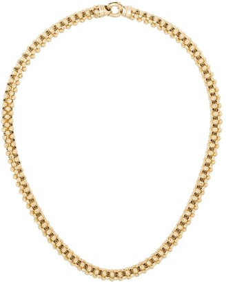 Adina Reyter 14kt Yellow Gold Diamond-Cut Chunky-Chain Necklace