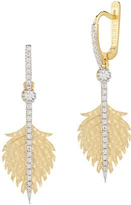 I. Reiss 14K 0.45 Ct. Tw. Diamond Dangling Earrings