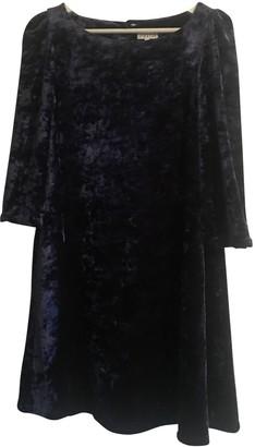 Claudie Pierlot SS18 Blue Velvet Dresses
