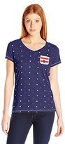 U.S. Polo Assn. Juniors' Short-Sleeve V-Neck Stars and Stripe Pocket Graphic-Shirt