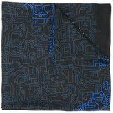 Furla labyrinth print scarf