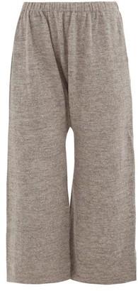 LAUREN MANOOGIAN Peg Cropped Alpaca-blend Trousers - Womens - Grey