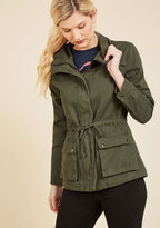 ModCloth Escape into Nature Jacket in Moss in M