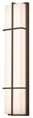 Latitude Run Lovelace LED Outdoor Bulkhead Light Fixture Finish: Textured Bronze
