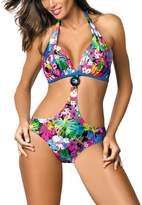 Marko Sandra M-431 one piece swimsuit padded cups floral