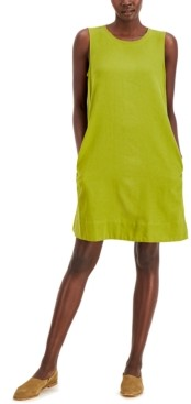 Eileen Fisher Sleeveless Round-Neck Dress