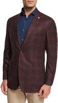 Peter Millar Collection Glen Windowpane Soft Jacket, Chianti