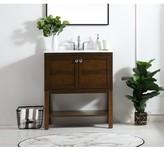 "Maisy 30"" Single Bathroom Vanity Set Charlton Home Base Finish: Antique Coffee"