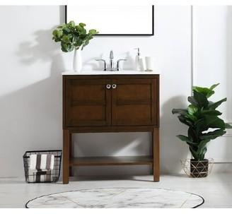 "Charlton Homeâ® Maisy 30"" Single Bathroom Vanity Set Charlton HomeA Base Finish: Antique Coffee"