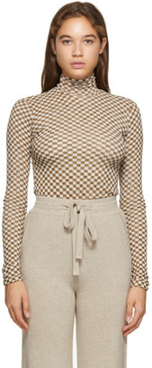 Nanushka Brown Mesh Harri Long Sleeve T-Shirt