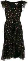 Temperley London glitter detail midi dress