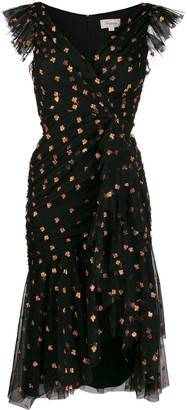 Temperley London glitter detail midi dress