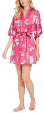INC International Concepts Inc Women's Printed Wrap Robe, Created for Macy's