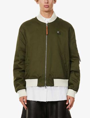 Loewe Zipped cotton and wool-blend bomber jacket
