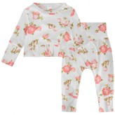 Kate Mack Kate MackBaby Girls Ivory Floral Top & Leggings Set
