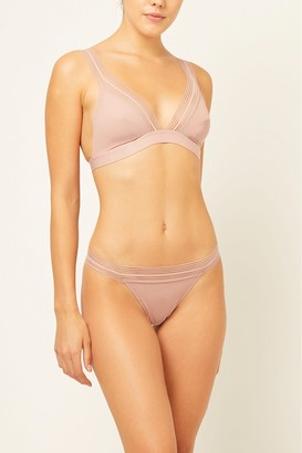 French Connenction Geo Mesh Plunge Bralette