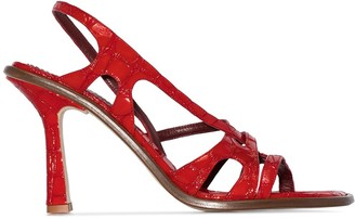 Sies Marjan Diana embossed 90mm sandals
