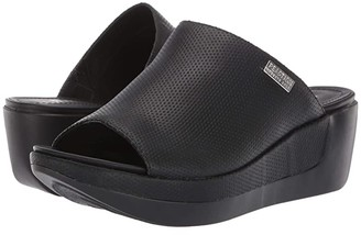 Kenneth Cole Reaction Pepea Slide Perf (Black) Women's Shoes