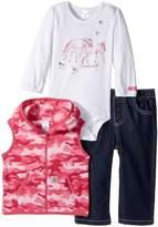 Carhartt Kids - Horse Friends Three-Piece Pants Set Girl's Active Sets
