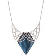 Alexis Bittar Crystal Encrusted Lace Bib Necklace