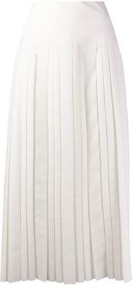The Row Pleated Mid-Length Skirt